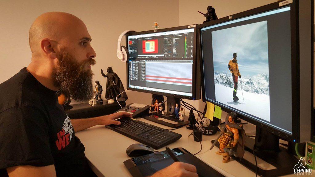 """Nahum Galeote: Técnico en animación de video y efectos. Nahum ha sido la ultima incorporación en este ambicioso proyecto. Su misión es """"sencilla"""" hacer mágia con las imágenes que menos partido tienen, así como dar vida a fotografías estáticas con mas de 20 años, Los resultados están siendo increíbles."""